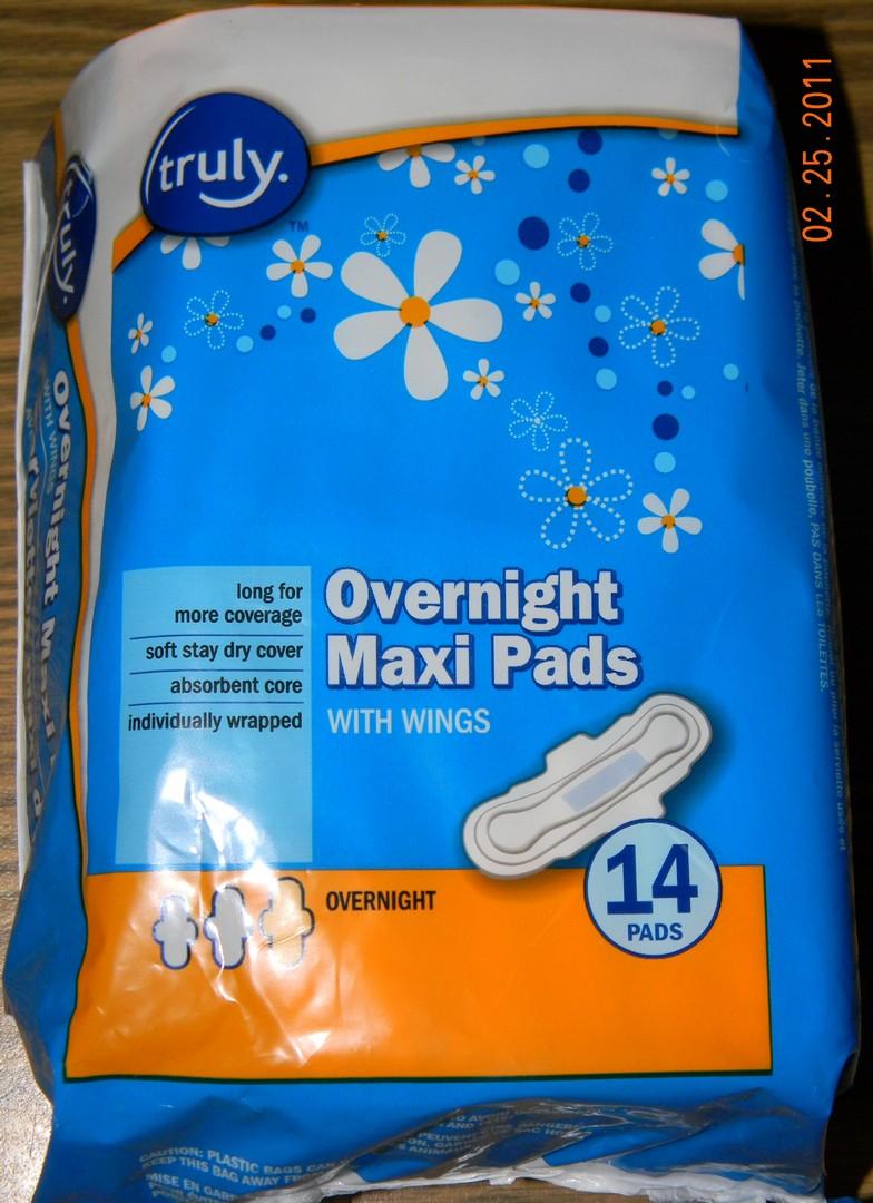 Peeing maxipads at night