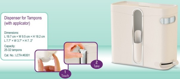 Lady Case - Tampon (with applicator) Dispenser